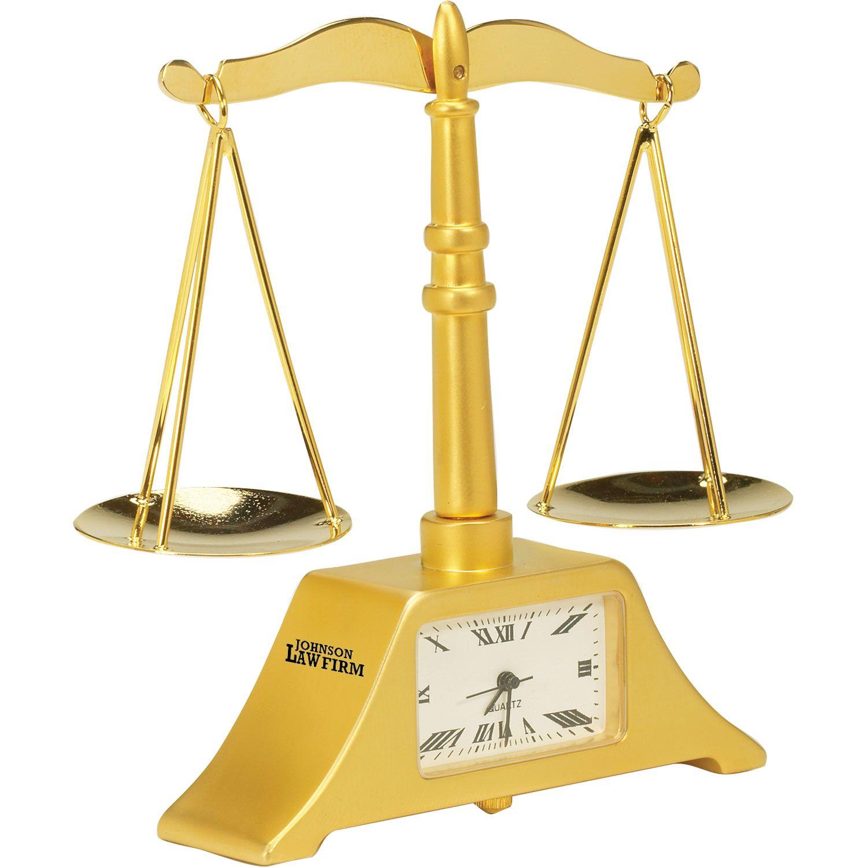 Scales of Justice Clock